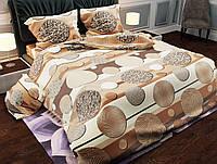 Двуспальное постельное белье бязь голд - Шарики беж