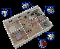 Монтаж приточно-вытяжная вентиляция с рекуперацией тепла под ключ. Для дома ок. 100 м2