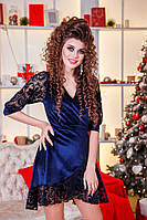 Миниатюрное велюровое платье