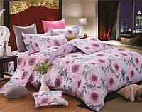 Двуспальное постельное белье бязь голд - Фиолетовые подсолнухи
