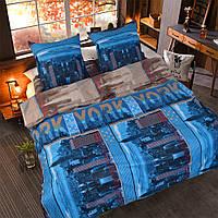 Двуспальное постельное белье бязь голд - New york
