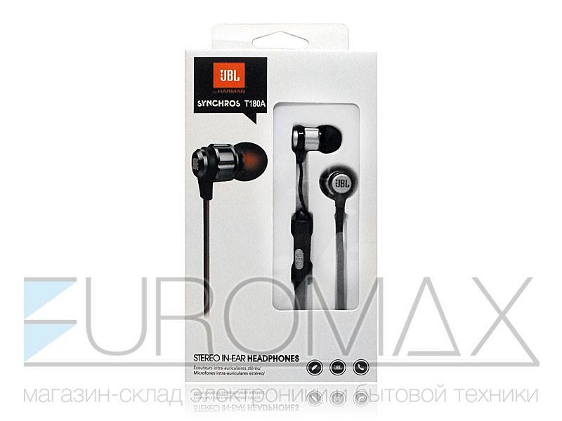 Наушники вакуумные с микрофоном (уп. 12шт) 480шт T180A-JBL