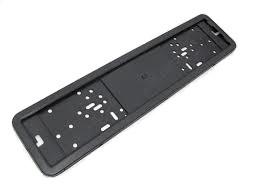 Рамка номера автомобиля из нержавеющей окрашенной стали чёрного цвета