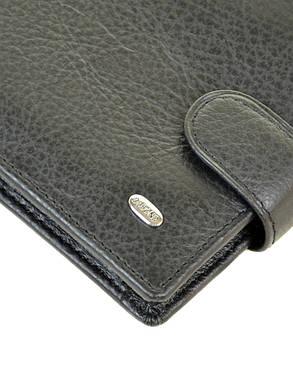 Натуральная кожаный мужской кошелек Dr.BOND М4 черный, фото 2
