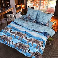 Двуспальное постельное белье бязь голд - Снежный барс