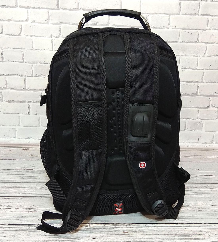 d8d9d29a5ad6 Вместительный рюкзак SwissGear Wenger, свисгир. Черный. + Дождевик. 35L /  s8875 black ...