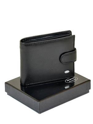 Натуральная кожаный мужской кошелек Dr.BOND М3 черный, фото 2