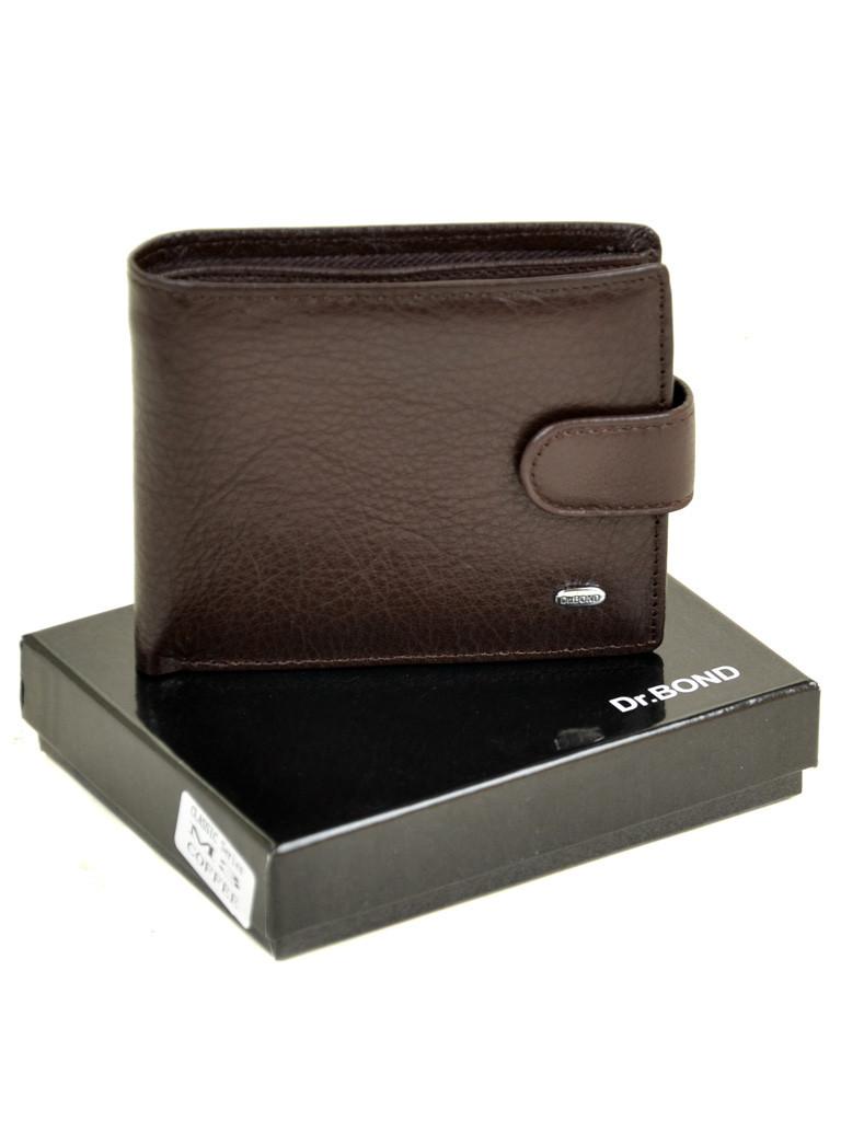 Натуральна шкіряний чоловічий гаманець Dr.BOND М3/1 коричневий