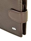 Натуральна шкіряний чоловічий гаманець Dr.BOND М3/1 коричневий, фото 3