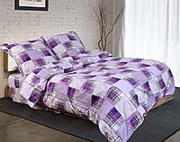 Двуспальное постельное белье бязь голд - Эпл фиолет