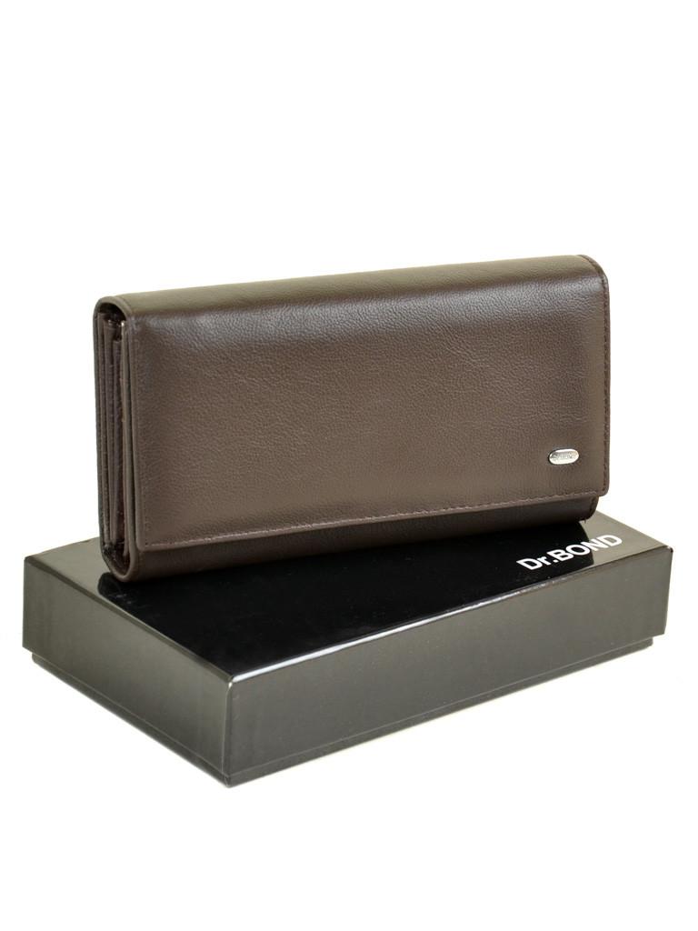 Женский кожаный кошелек Dr.BOND DRW34-1 черный
