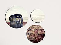Фотокартина модульная Круглая 3 модуля Доктор кто