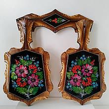 Набор досок, доски декоративные,  петриковская роспись