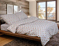 Двуспальное постельное белье бязь голд - Арт розочки на беж