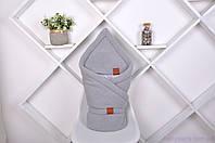 """Вязаный конверт для новорожденного """"Familia"""", серый, фото 1"""