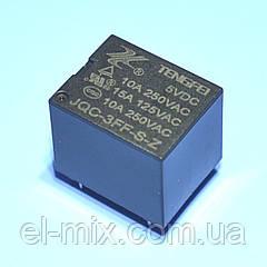 Реле   5V 1группа  JQC-3FF-1C (10А 240V) 5pin on-on  Tengfei