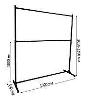 Стойка-вешало металлическая двойная с регулируемой высотой для одежды (от производителя), фото 1