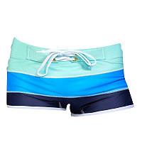 Мужские плавательные шорты боксеры в полоску опт, фото 1
