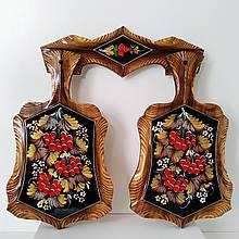 Набор досок с петриковской росписью