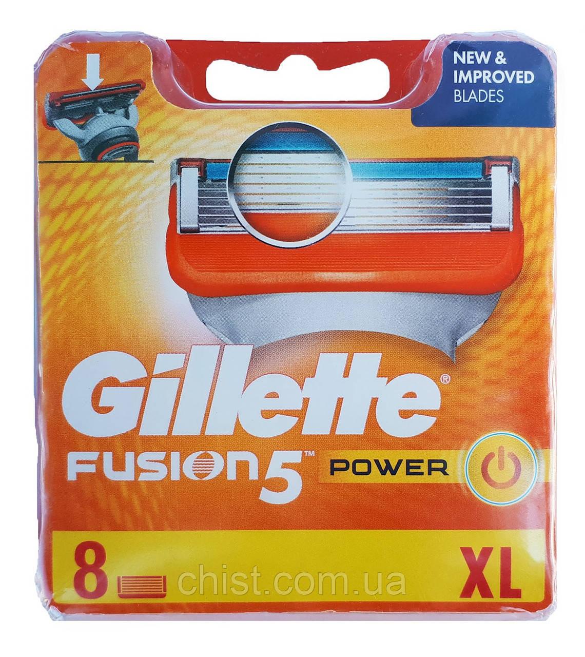 Сменные кассеты Gillette Fusion 5 Power (8 шт) Европа