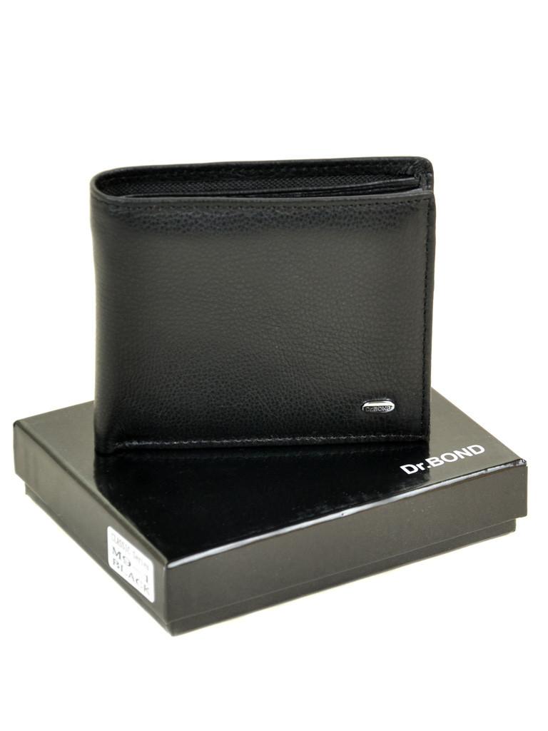 Натуральна шкіряний чоловічий гаманець Dr.BOND М9-1 чорний