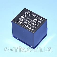 Реле   9V 1группа  JQC-3FF-1C (10А 240V) 5pin on-on  Tengfei