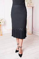 Праздничная юбка для женщины. Цвета черный, синий, пудра Размеры 48-62, фото 1