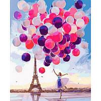 """Картина по номерам, картина-раскраска """"Париж"""" 40Х50см VP1014"""