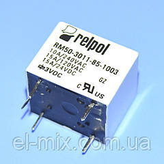 Реле   3V 1группа  RM50-3011-85-1003 (10А 240V) 5pin on-on  Relpol