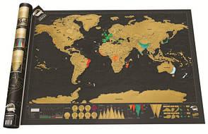 Скретч карта мира Scratch Map Deluxe Edition black