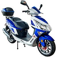 Скутер SPARK SP150S-17R (синий,черный,красный) + ДОСТАВКА бесплатно