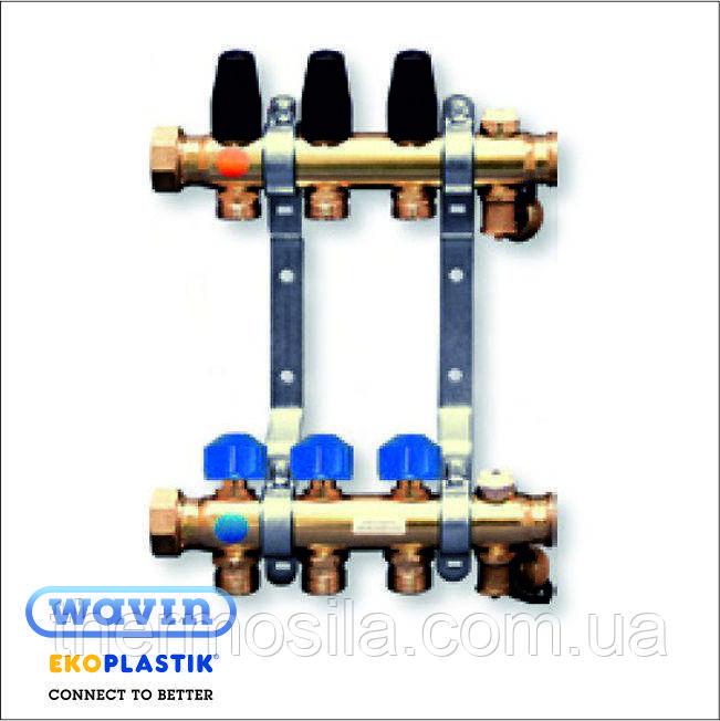 Колектор для теплої підлоги (з витратоміром) 4 виходи , Ekoplastik