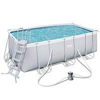 Каркасный бассейн Bestway 412*201*122 см с фильтр-насосом  (56456)