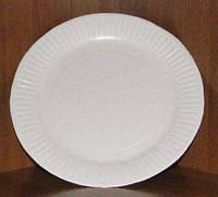 Тарелка картонная круглая D=19см без покрытия,100шт