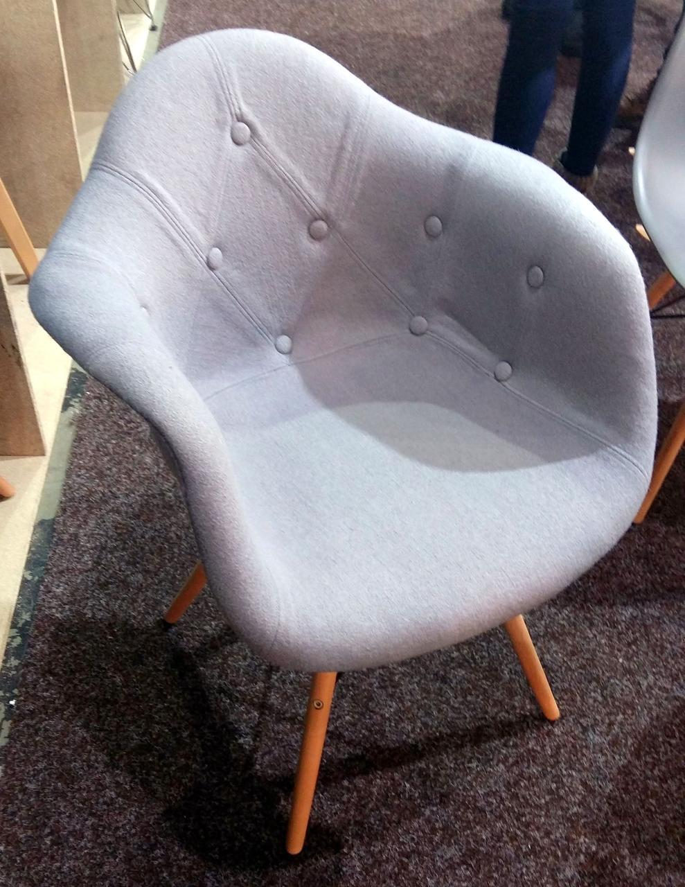 Кресло  Leon Soft шерсть , серый