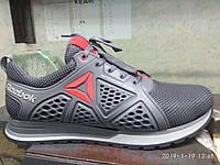 Мужские летние кроссовки Reebok с сеткой натуральная кожа черные 40,41,42,43,44,45