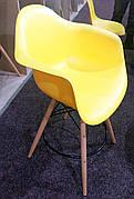 Крісло пластикове в скандинавському стилі Leon Onder Mebli, колір жовтий