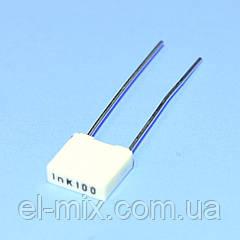 Конденсатор полиэфирный  0.001µF(1nF) 100VDC, R82 10%, Kemet