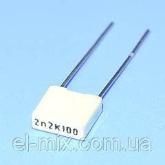 Конденсатор полиэфирный  0.0022µF(2,2nF) 100VDC, R82 10%, Kemet