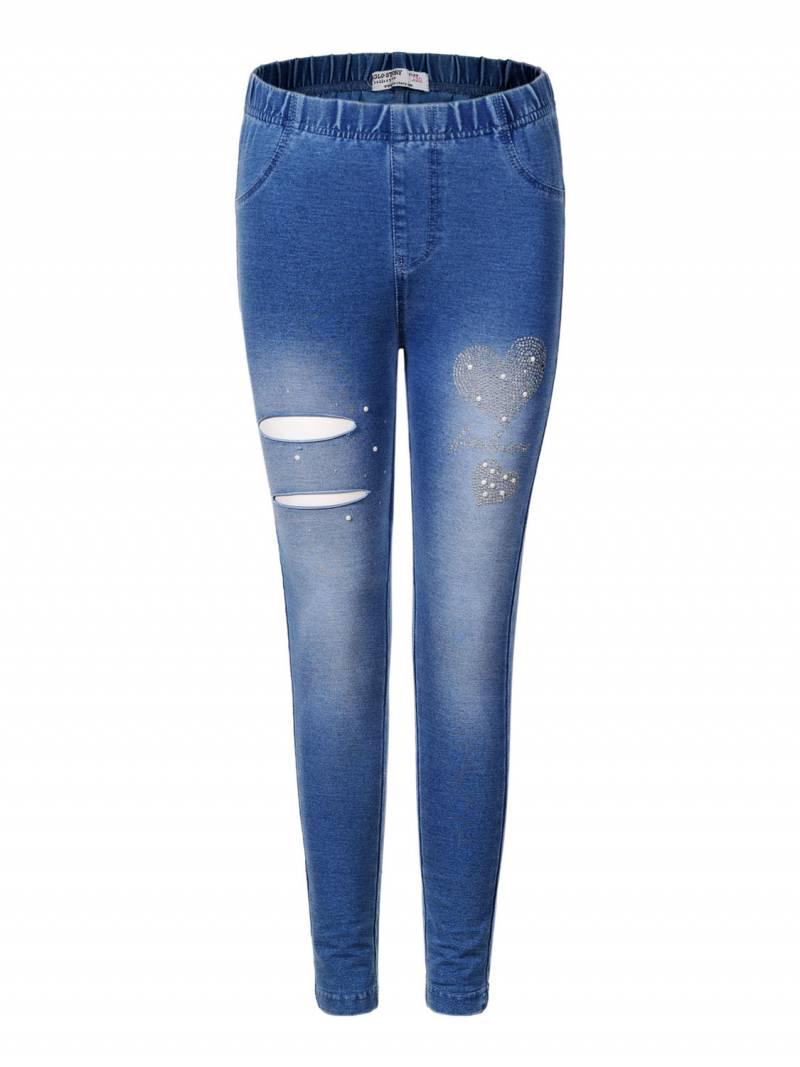 af073e8480cce Лосины c имитацией джинсы для девочек Glo-Story оптом, 110-160 pp ...