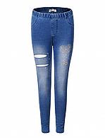 {есть:110} Лосины c имитацией джинсы для девочек Glo-Story, Артикул: GDK8223