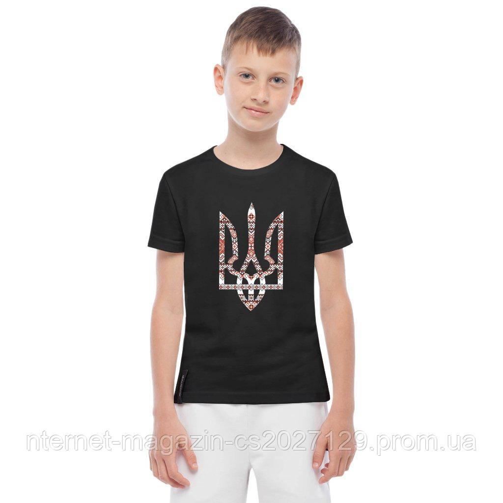 Детская футболка вышиванка с Гербом Украины (унисекс), фото 1