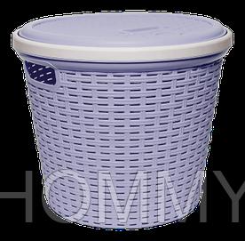 Корзина для хранения круглая Royal фиолетовая