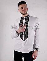 Заготівля чоловічої сорочки для вишивки нитками/бісером БС-146ч, фото 1