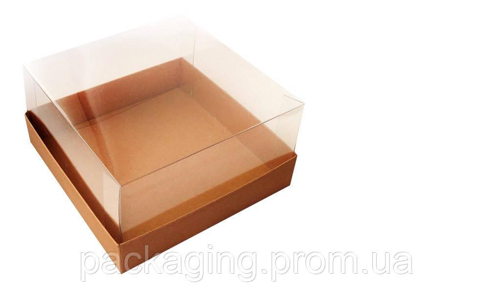 Коробка для торту з прозорим верхом