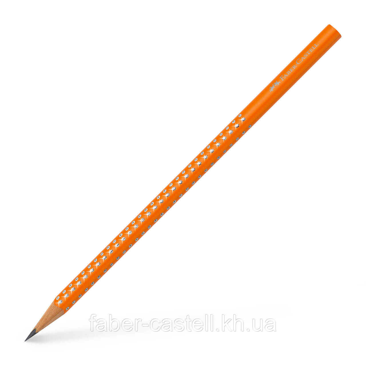 Карандаш чернографитный Faber-Castell Grip Sparkle корпус оранжевый, 118318