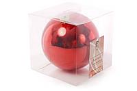 Елочный шар 15см, цвет - красный глянец BonaDi 147-719