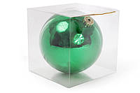 Елочный шар 15см, цвет - классический зеленый глянец BonaDi 147-990