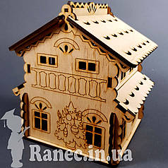 Деревянный домик шкатулка №1