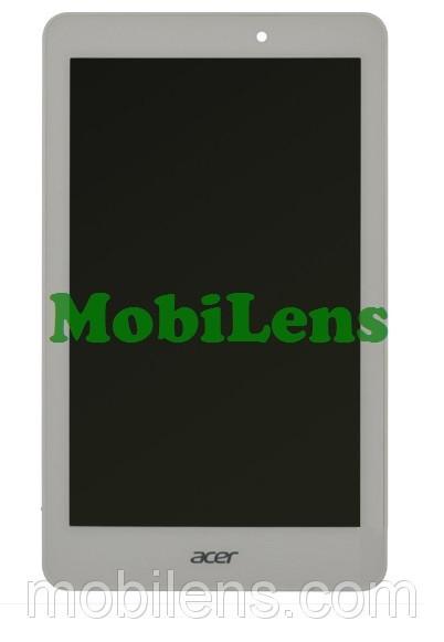 Acer A1-840, A1-840FHD, Iconia Tab 8 Дисплей+тачскрин(модуль) белый *в рамке